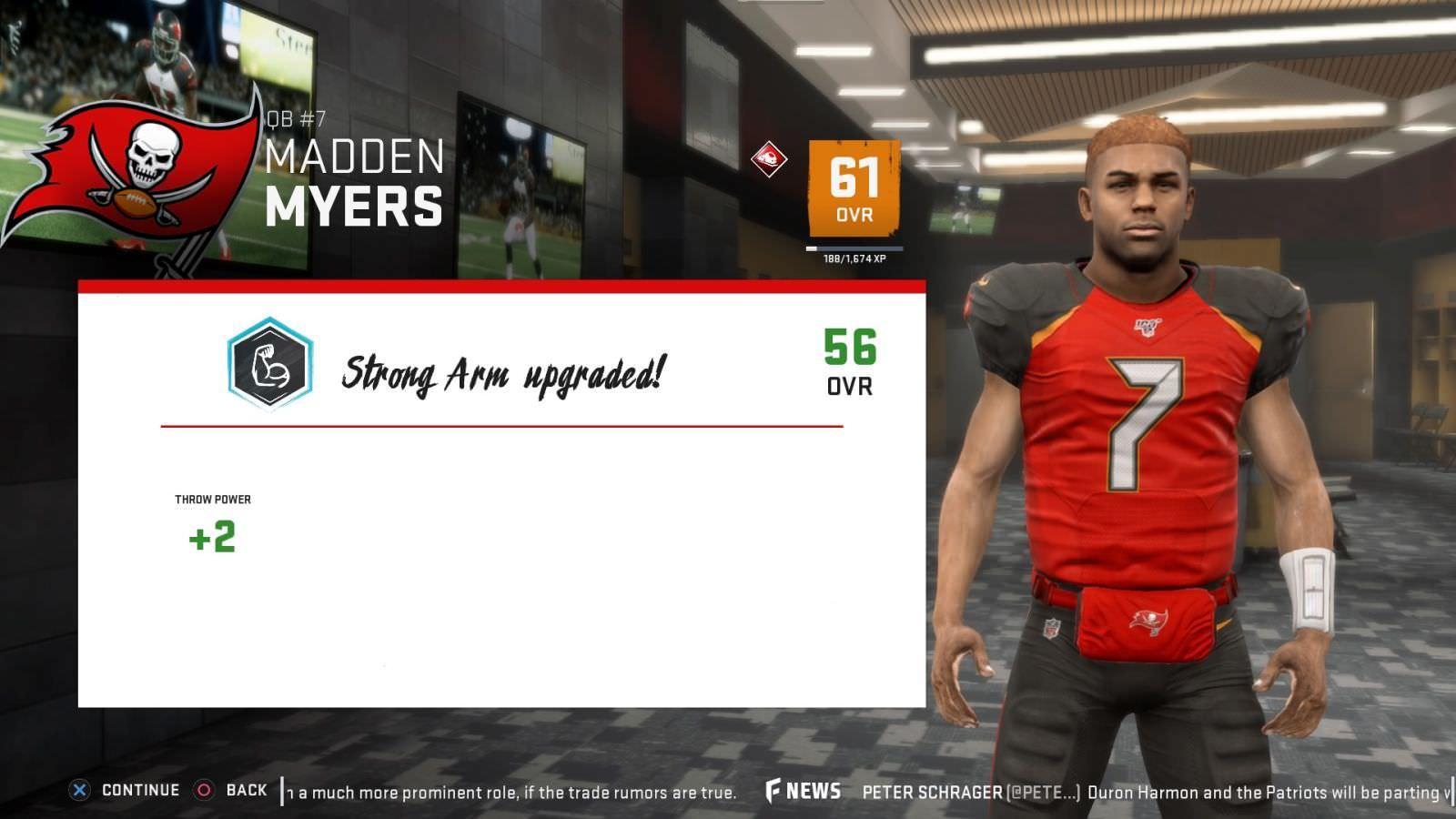 É estranho quando Madden NFL 20 caracteres Evitar dizendo o nome do meu jogador