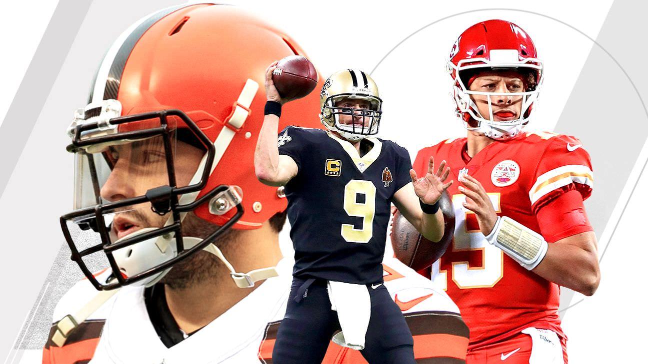 Fantasy Football: Previsão do quarterback sobre / unders para todos os 32 times