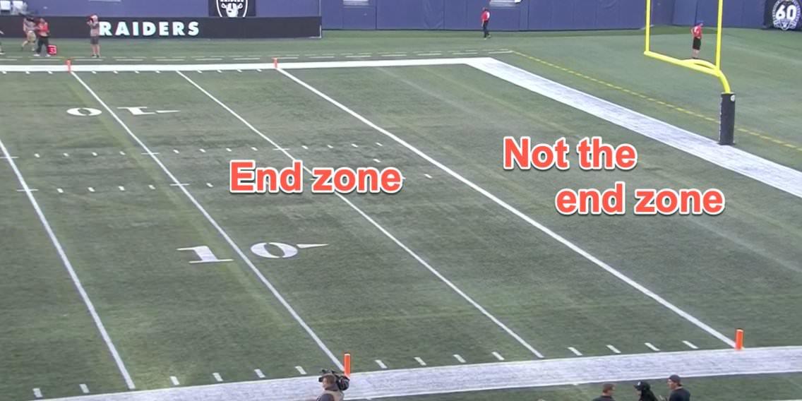 Os Raiders e Packers foram forçados a jogar um jogo de pré-temporada em um campo de 80 jardas que deixou jogadores, equipes e apostadores em Las Vegas confusos