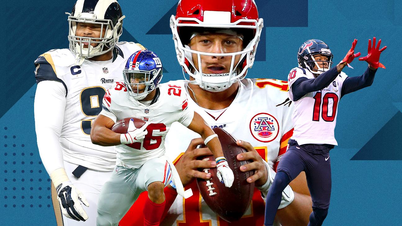 2019 NFLRank: Prever os 100 melhores jogadores para esta temporada