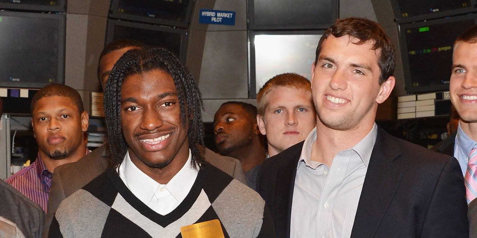 ONDE ELES ESTÃO AGORA? Todos os grandes nomes de QBs tirados com Andrew Luck no draft de 2012 da NFL