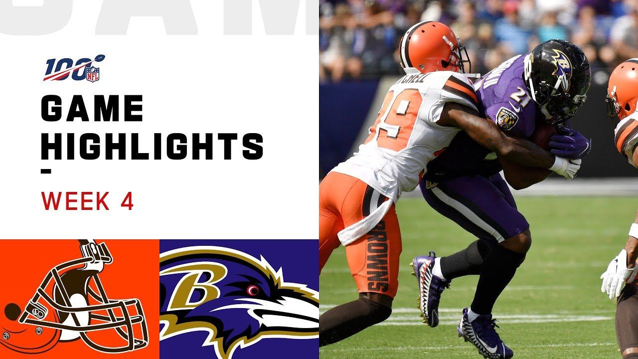 Destaques da Semana 4 do Browns vs. Ravens   NFL 2019 – NFL