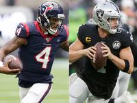 Raiders-Texans Semana 8 jogo dobrado para o final da tarde