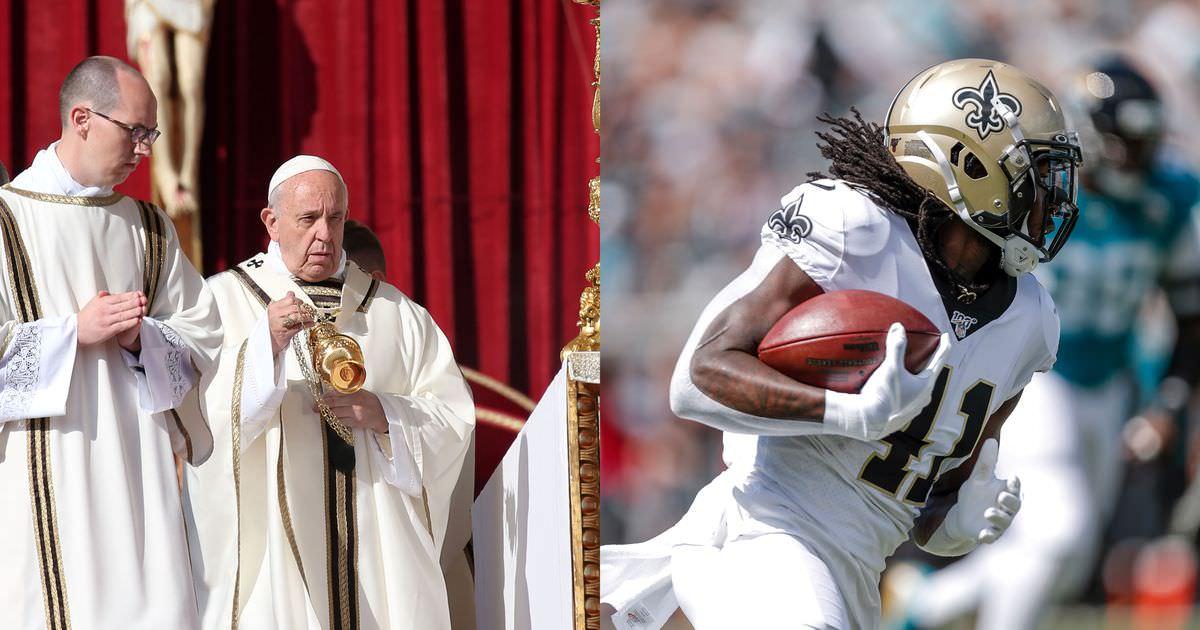 Papa inconscientemente tweets de apoio à equipe da NFL e olha, isso estava prestes a acontecer