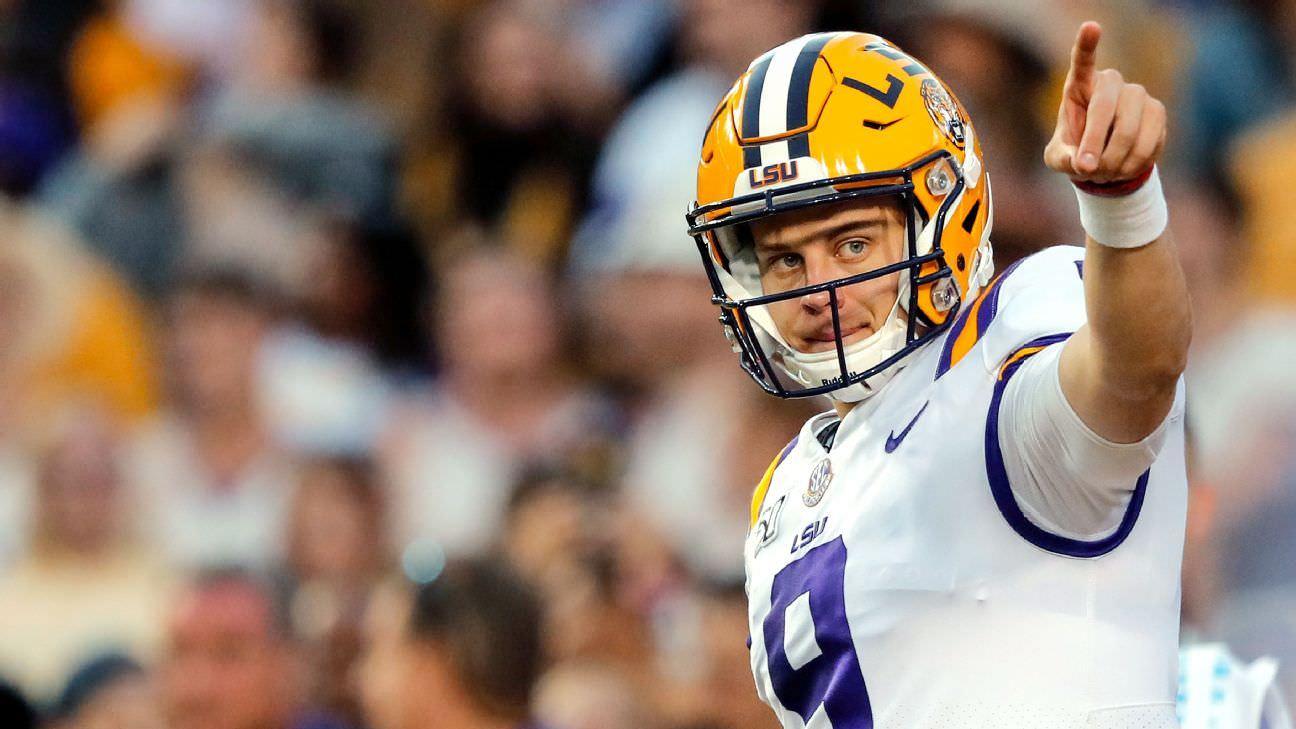 Kiper da NFL para o draft de 2020 no Big Board: Quão alto Joe Burrow poderia subir?