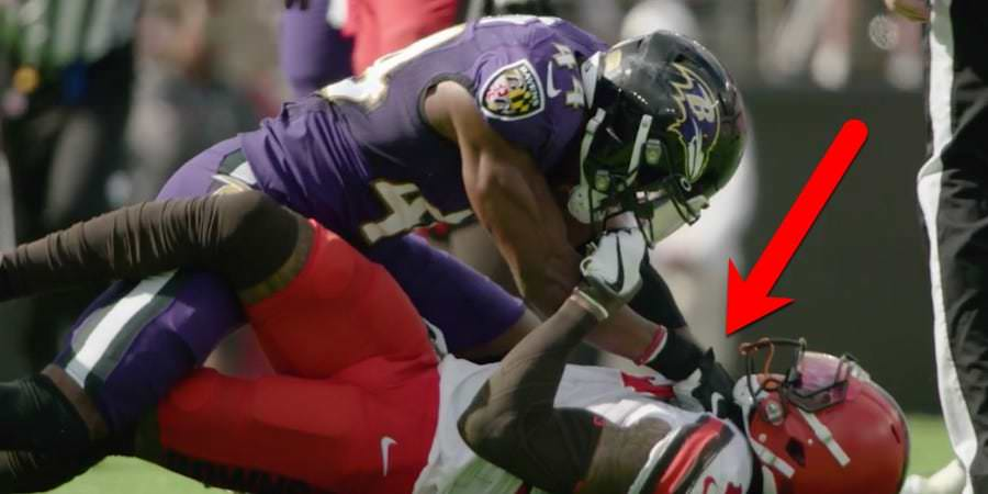 Novo vídeo levanta dúvidas sobre se o zagueiro Ravens 'sufocou' Odell Beckham Jr durante brigas em campo