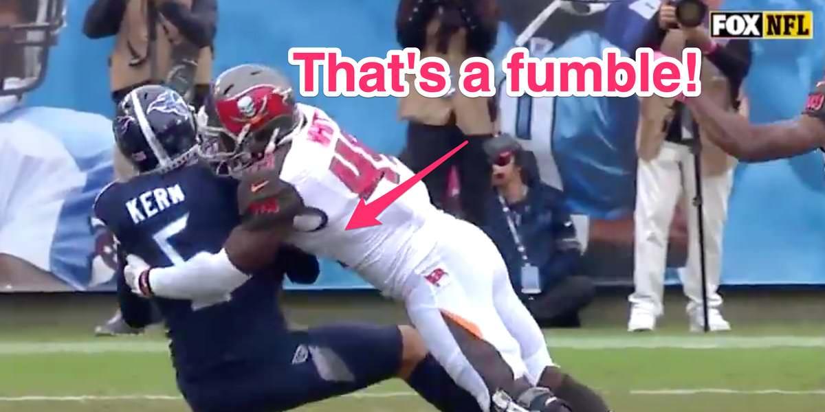 Os Buccaneers de Tampa Bay foram roubados de possíveis touchdowns vencedores de jogos com um apito prematuro