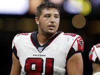 Lesões: Falcons TE Austin Hooper sofreu entorse na MCL