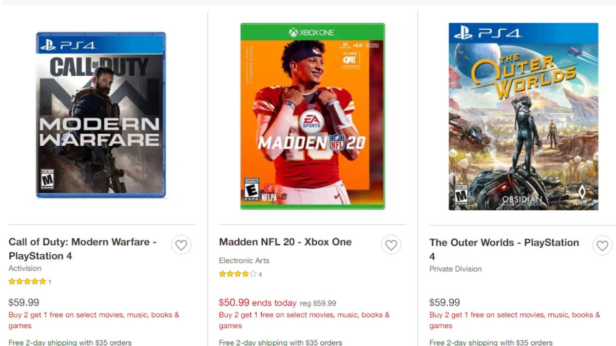 Obtenha um jogo de vídeo gratuito da Amazon e ofertas limitadas do Buy-2-Get-1 da Target