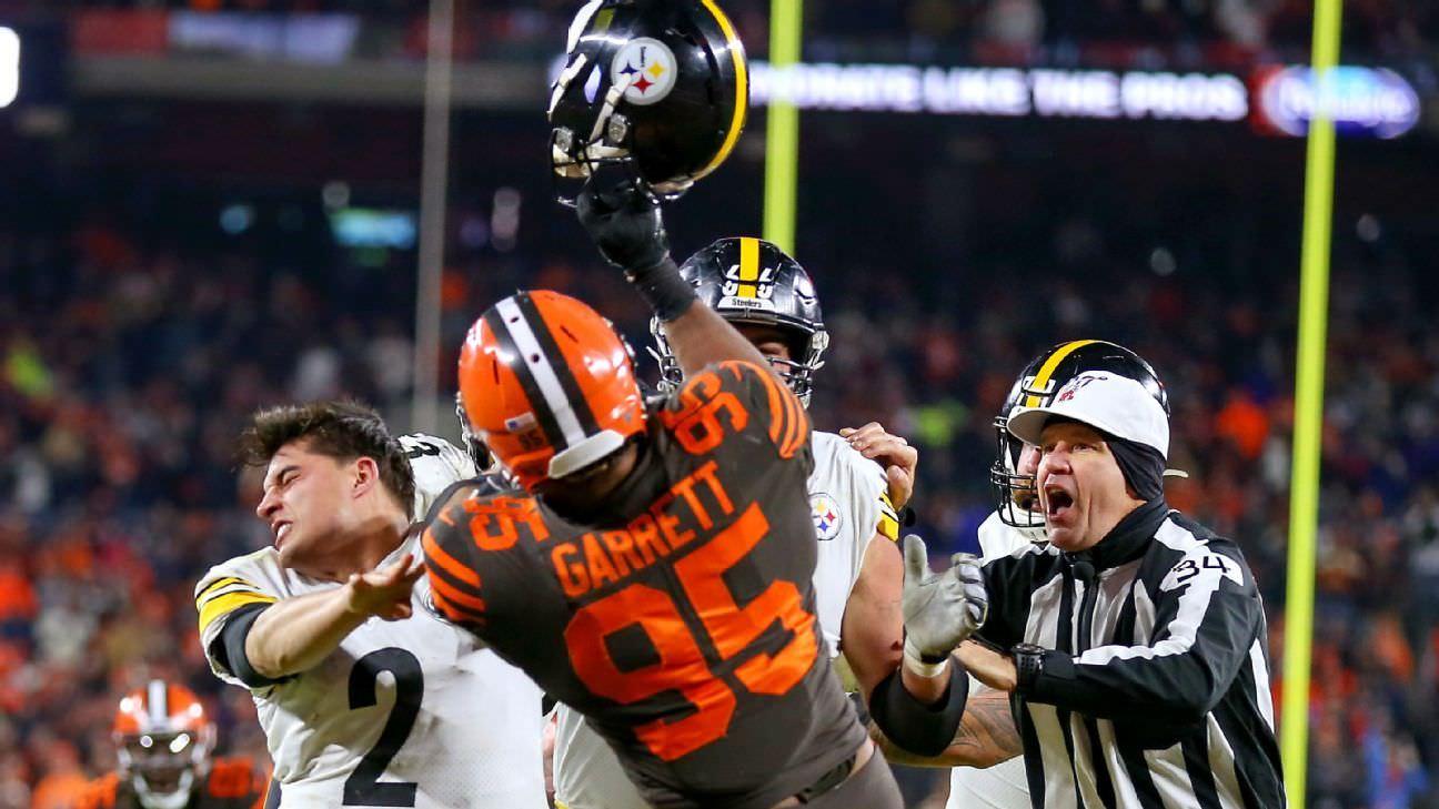 NFL bate Browns 'Garrett com proibição indefinida
