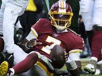 Redskins RT: Haskins não estava culpando O-line em vídeo