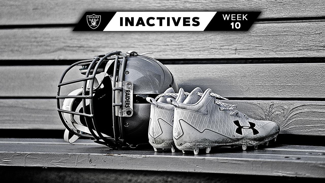 Inativos da Oakland Raiders na semana 10 x Los Angeles Chargers – Raiders.com