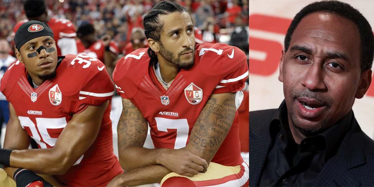 Stephen A. Smith e Eric Reid estão brigando pelo treino de NFL de Colin Kaepernick, que alguns estão chamando de 'golpe publicitário'