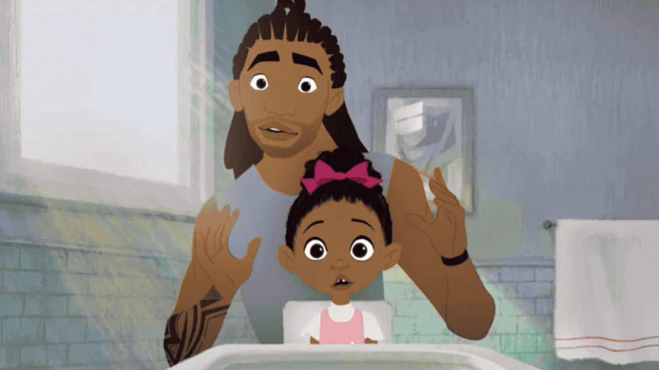 Assista a este curta animado e fofo, 'Hair Love', sobre um pai negro fazendo o cabelo da filha