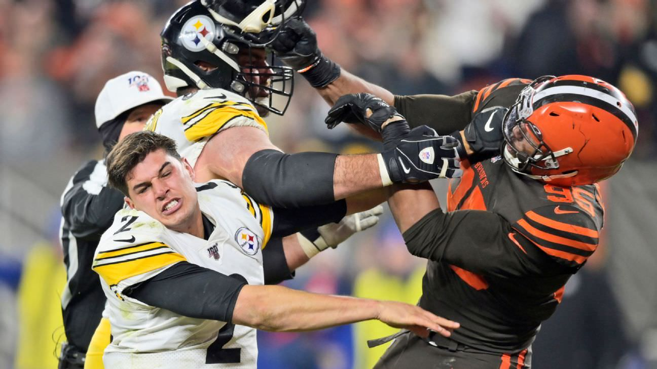 NFL multas Rudolph $ 50K Steelers para o papel na luta