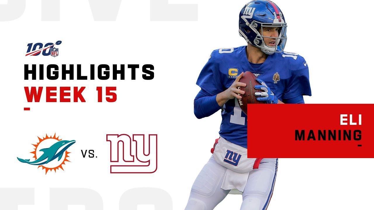 Destaques de Eli Manning vs. Golfinhos   NFL 2019 – NFL