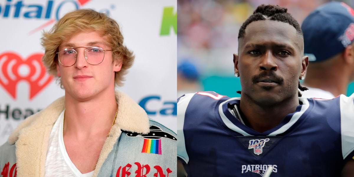 YouTuber Logan Paul e o ex-receptor da NFL Antonio Brown estão provocando uma possível luta de boxe