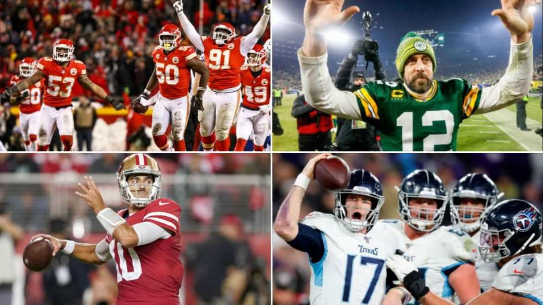 Quatro times da NFL se enfrentam para ver quem jogará no Super Bowl LIV