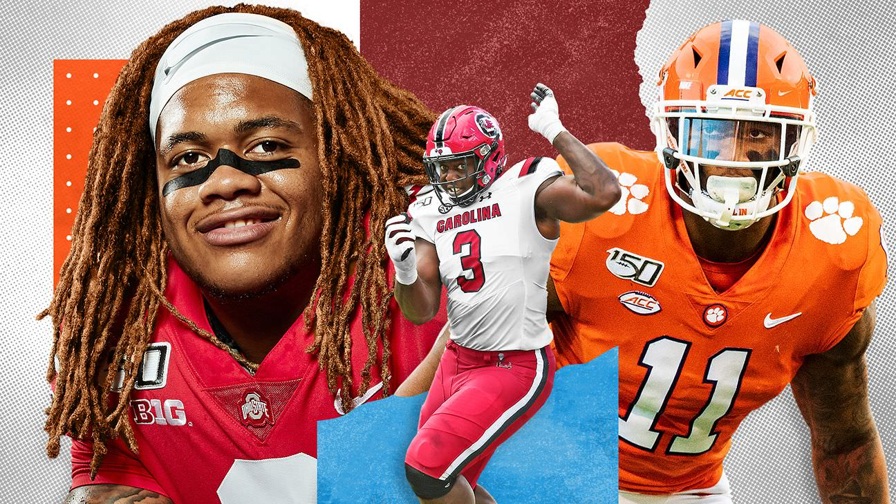 McShay novo NFL Mock Draft 2020: pontos de chegada para os melhores defensores da classe