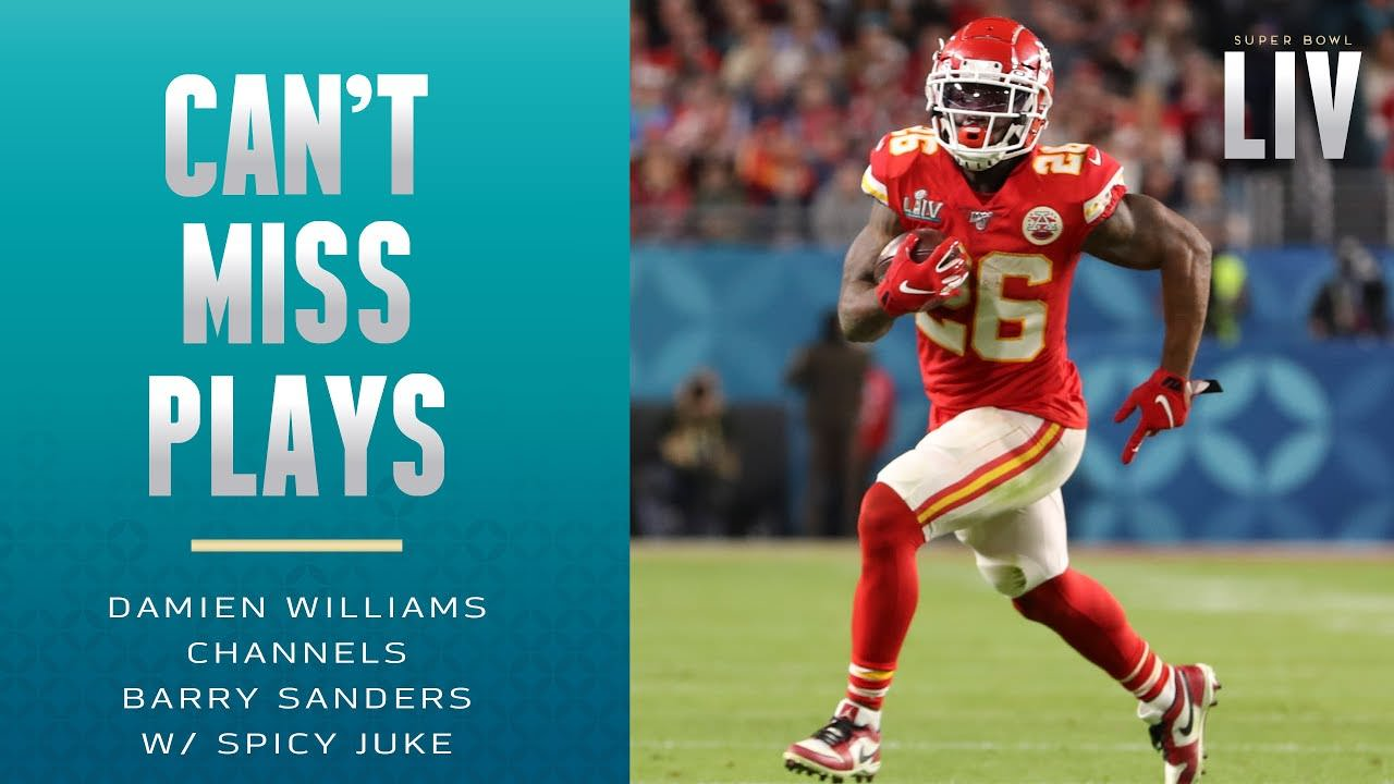 Damien Williams Canais Barry Sanders w / Spicy Juke Move | Super Bowl – NFL