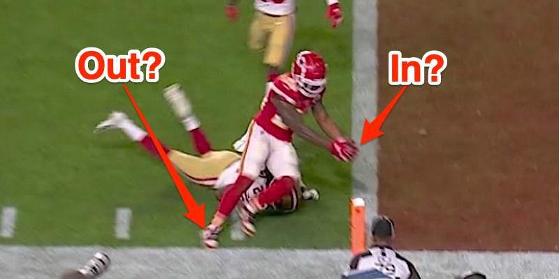 A maior jogada do Super Bowl se resumiu a uma análise restrita que determinou que um retorno do Chiefs quebrou o plano da end zone antes de sair dos limites.