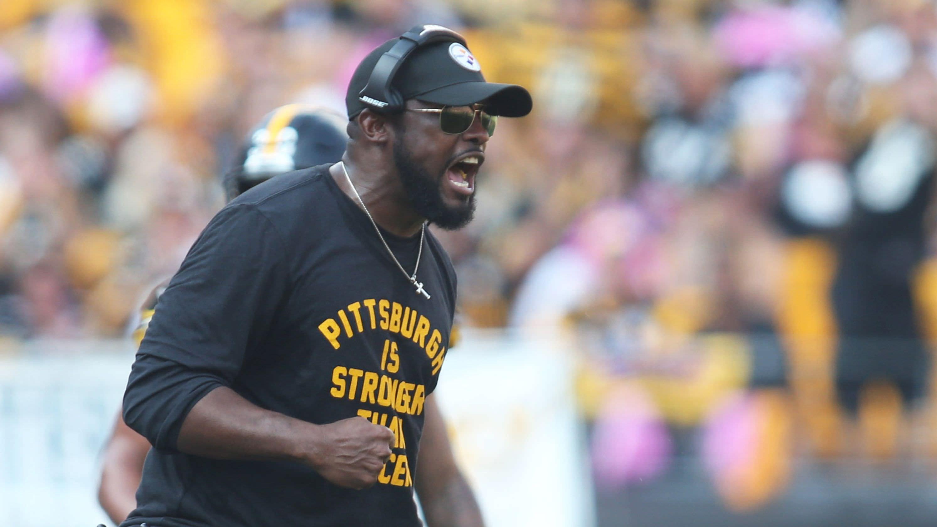 O técnico dos Steelers, Mike Tomlin, multou US $ 25 mil por criticar funcionários da NFL