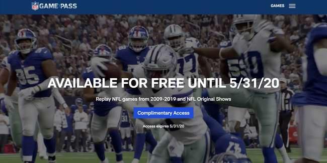 A NFL e a NBA estão oferecendo aos fãs acesso gratuito aos seus serviços de streaming