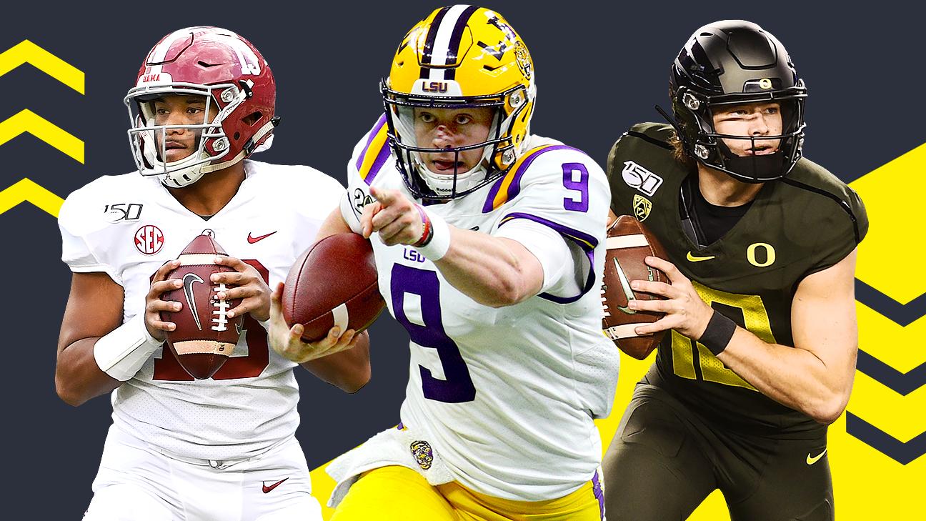 Avaliando a classe de quarterback da NFL para 2020 – As estatísticas correspondem à fita de Joe Burrow, Tua Tagovailoa, outras?