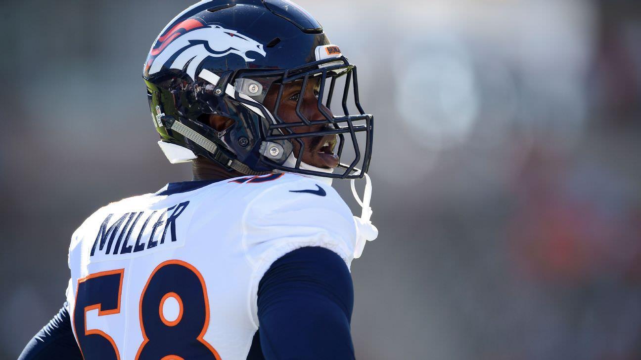 Von Miller, do Broncos, tentou tomar todas as precauções, mas ainda pegou vírus