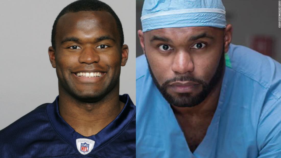 Ex-jogador da NFL agora na linha de frente contra o coronavírus
