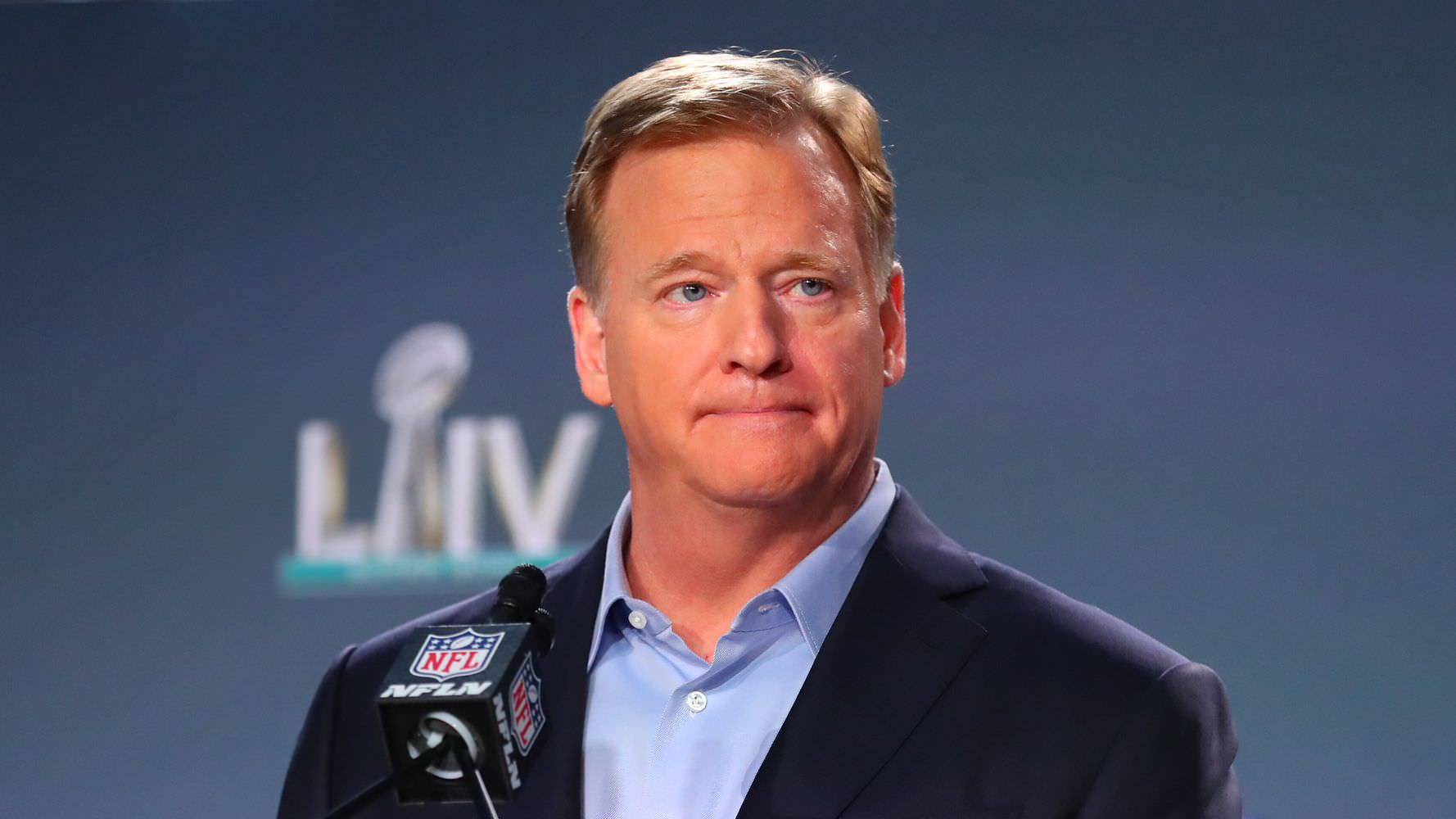 """""""Hipócrita"""": Roger Goodell, da NFL, criticou os protestos de George Floyd"""