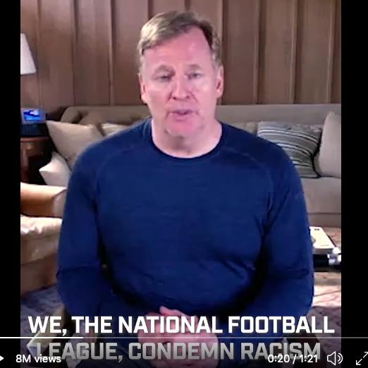 Por que a NFL está subitamente defendendo vidas negras