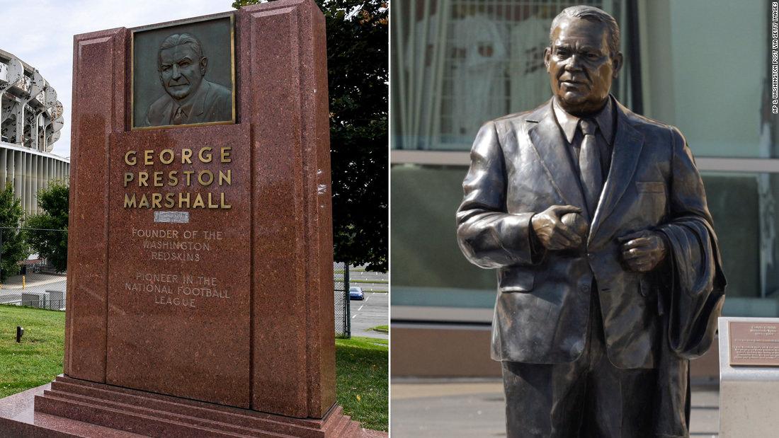 Memoriais aos ex-proprietários racistas dos Washington Redskins e Minneapolis Twins são removidos