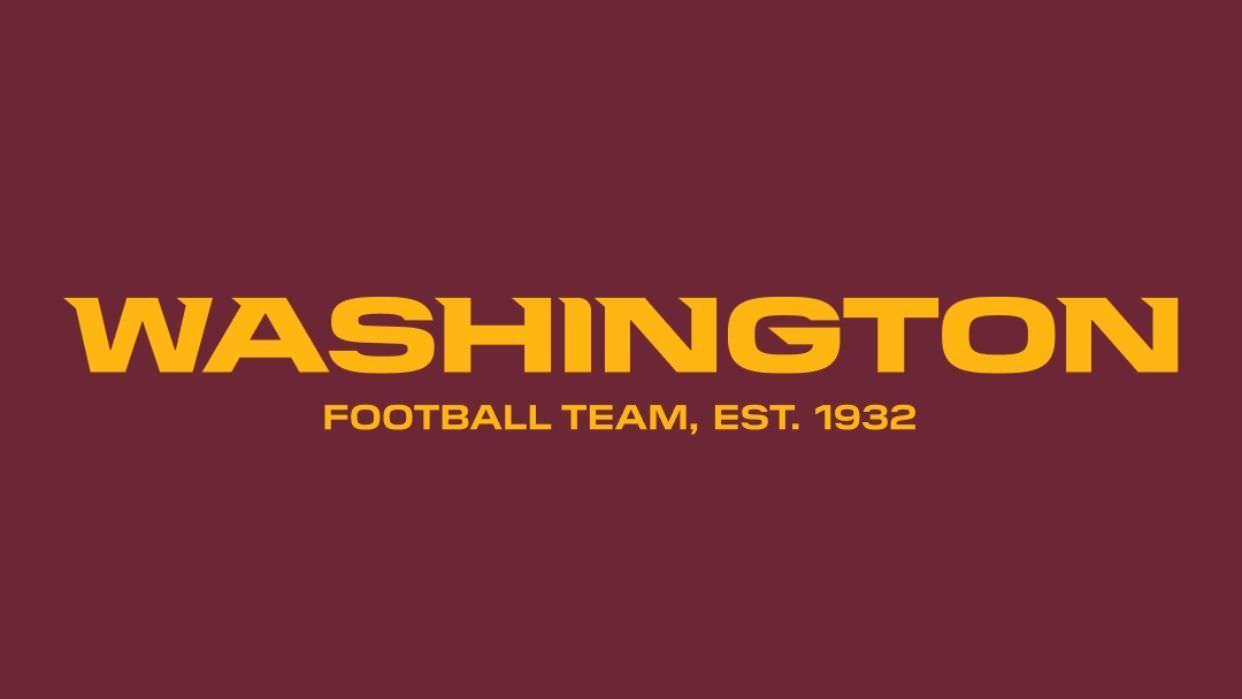 Equipe da NFL de Washington usará o 'Washington Football Team' para a temporada 2020