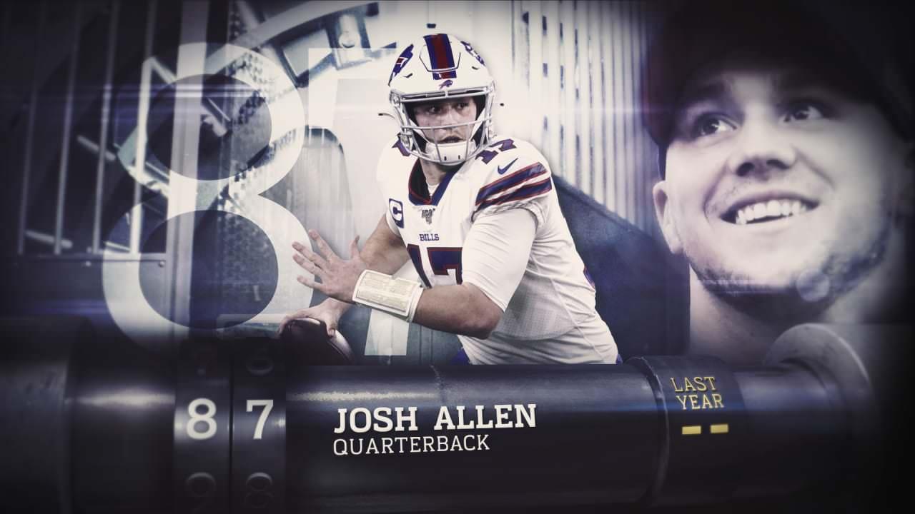 'Top 100 jogadores de 2020': quarterback do Buffalo Bills Josh Allen | 87 – NFL.com