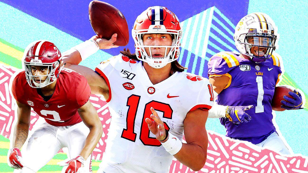 Draft simulado de 2021 da NFL – previsões iniciais de Todd McShay para todas as 32 escolhas do primeiro turno