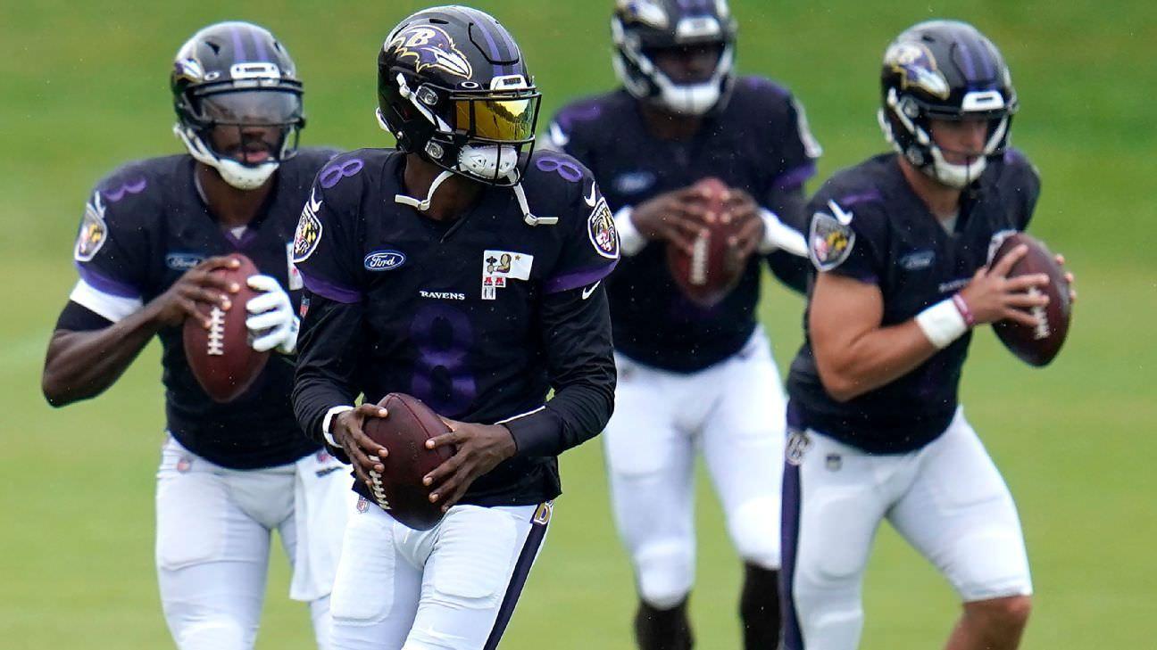 Fontes: Ravens QB Jackson tratando de lesão na virilha