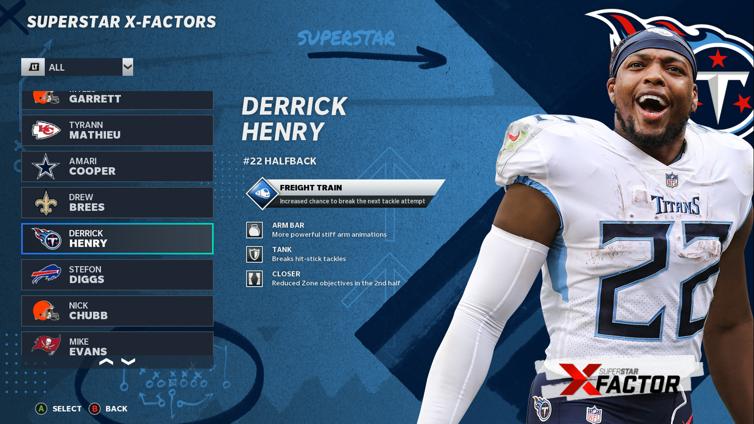 Estas são todas as habilidades do fator X no Madden NFL 21