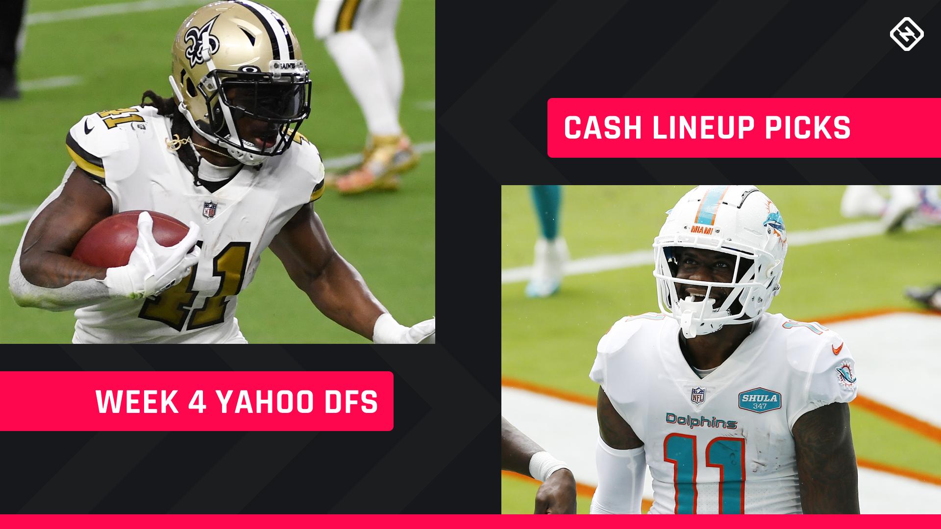 Semana 4, Yahoo Fantasy Football Picks: conselhos sobre a escalação NFL DFS para jogos a dinheiro