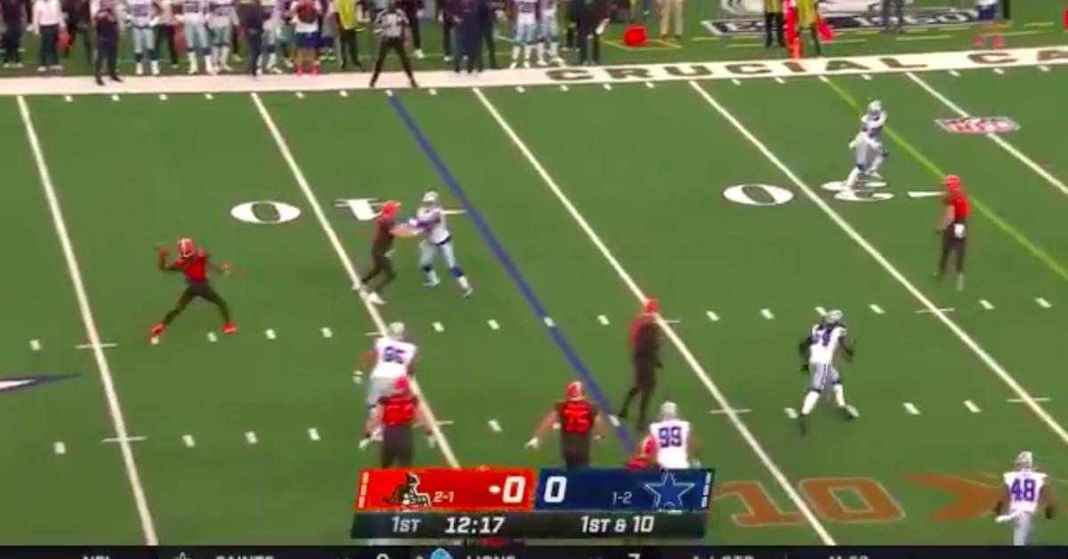 Jarvis Landry lançando um touchdown para OBJ foi a manobra perfeita para os Browns