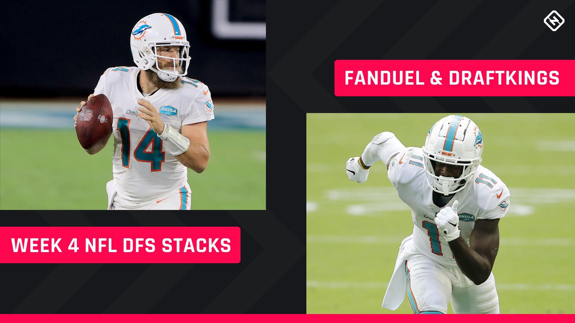 Semana 4 NFL DFS Stacks: melhores escolhas de lineup para DraftKings, torneios FanDuel, jogos a dinheiro