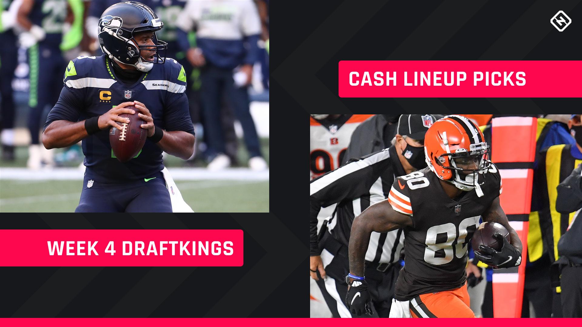 Semana 4 DraftKings Picks: Conselho de escalação NFL DFS para cash games diários de fantasia