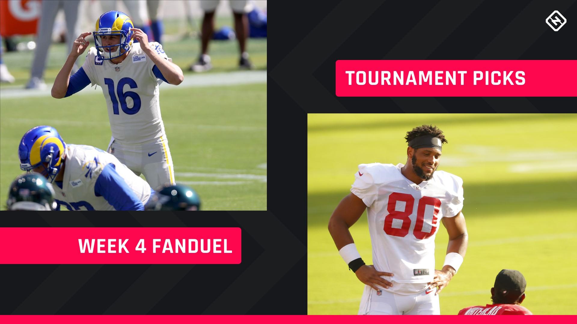 Semana 4 FanDuel Picks: Conselhos sobre escalação NFL DFS para torneios GPP diários de fantasy football