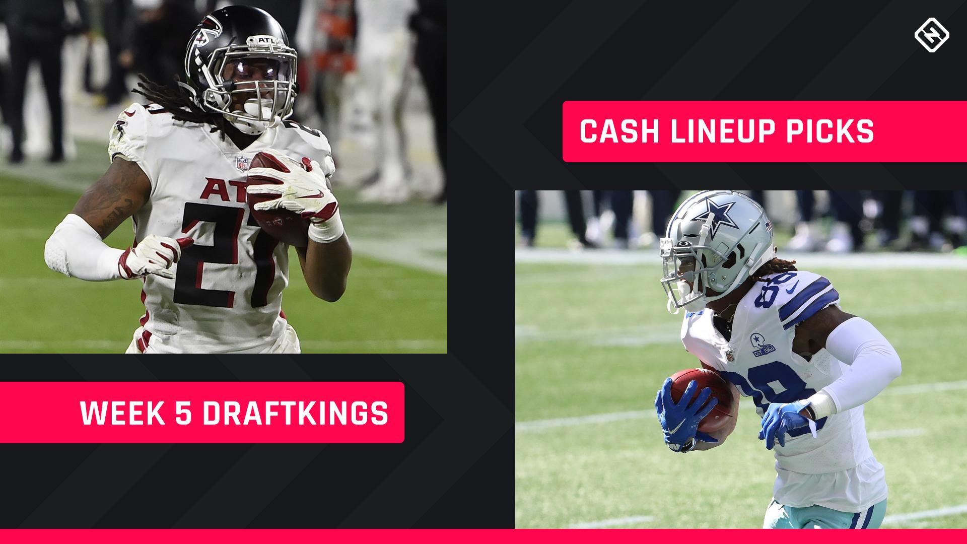 Semana 5 DraftKings Picks: Conselho de escalação NFL DFS para jogos diários a dinheiro de fantasy football