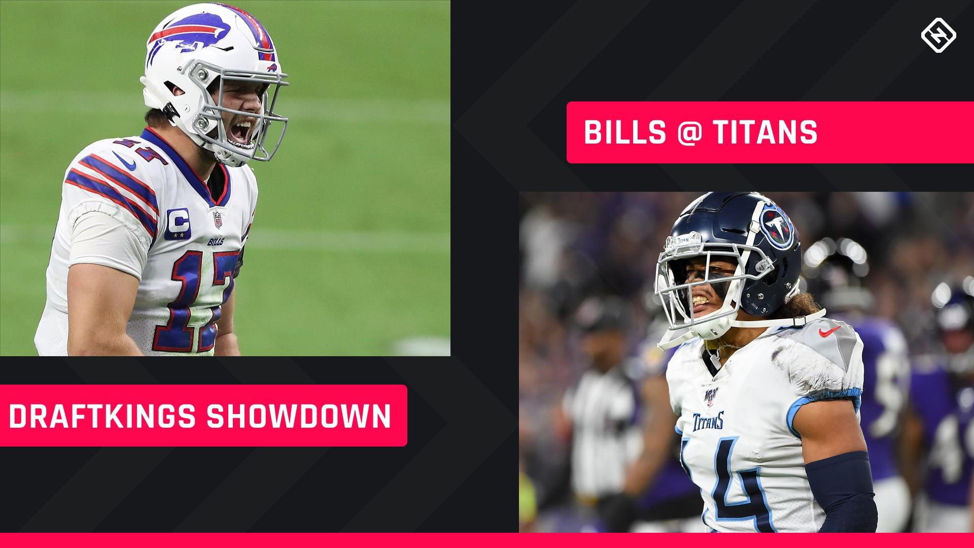Escolhas dos Reis de Draft de Futebol de Terça à Noite: Conselhos sobre escalação NFL DFS para torneios da Semana 5 do Bills-Titans Showdown